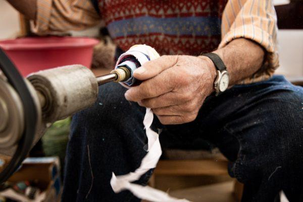 Fleckerlteppich Handarbeit