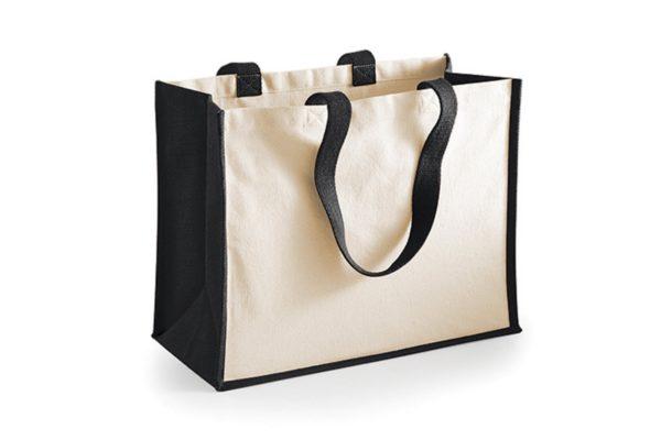 jute shopper schwarz shop
