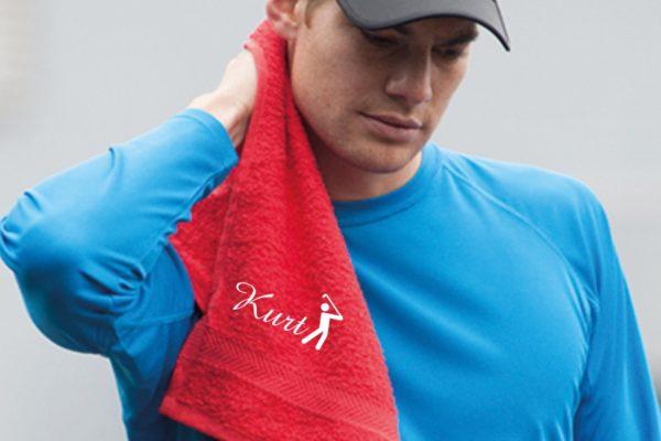 golf handtuch mit namen