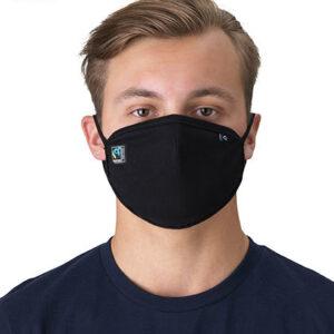 Fairtrade Maske schwarz