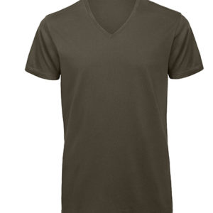 Bio T SHirt V neck oliv