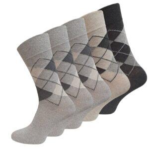 Ohne Gummi Karo Socken
