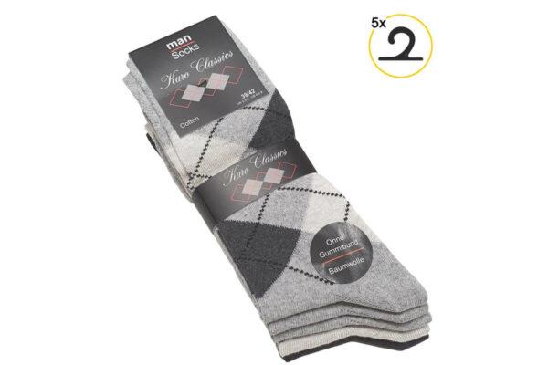 Ohne Gummi Karo2 Socken