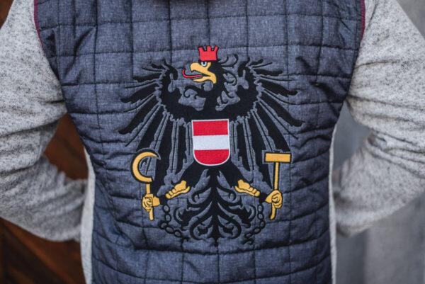 Österreichweste Rücken-stickshop